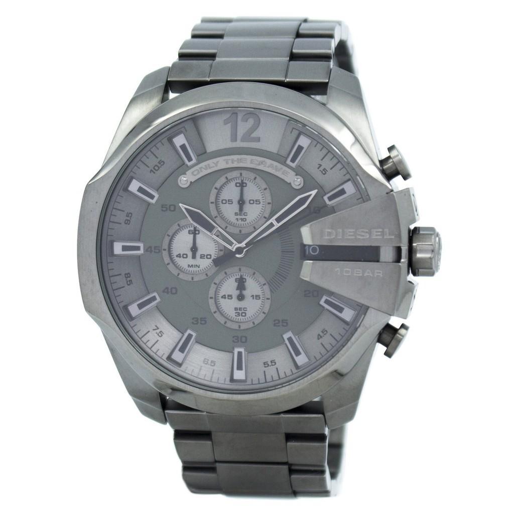 ยี่ห้อนี้ดีไหม  มหาสารคาม ดีเซล MEGA CHIEF นาฬิกาควอท์ซสีเทา Dial สีดำ IP DZ4282 นาฬิกาสำหรับผู้ชาย