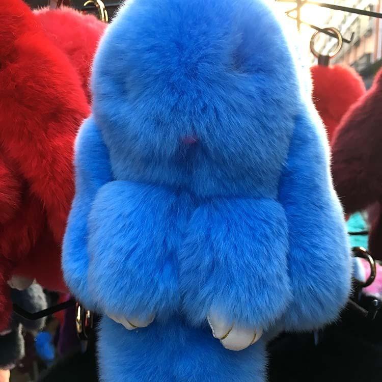 18cm cute Rabbit fashion bag small pendant (Sky blue color)