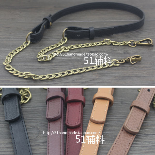 18mm faux leather wide double headed embossed leather Bronze (No. 5 dark red) (No. 5 dark red)