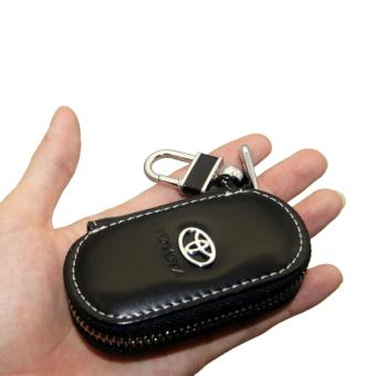 Harga 1pc Leather Key Wallet Car Key Case For TOYOTA (BLACK) - intl