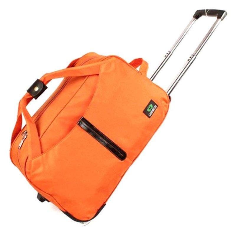 "20"" Premium Waterproof Cabin Size Travel Foldable Luggage Suitcase Bag (Black)"