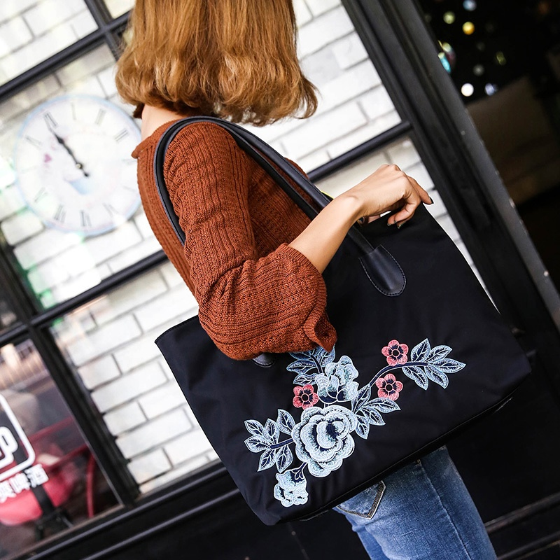 2016 autumn New style hand bag simple national wind Oxford spinning big bag fashion Stylish shoulder bag female