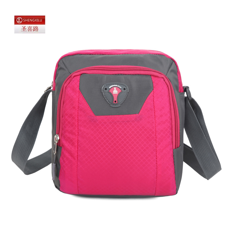 2016 new small nylon messenger bag tide casual canvas shoulder bag diagonal mini bag oxford cloth handbag (Rose red)