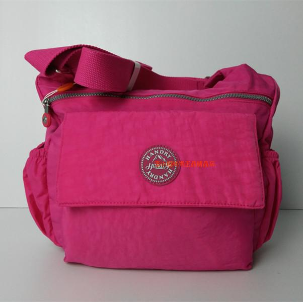 2016 New style HANDRY shoulder bag Women's messenger bag waterproof ultra-light wash cloth casual Korean-style cloth 2423 (Rose color)