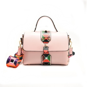 koreanstyle new style color rivet shoulder bag fashion cool wide shoulder strap handbag messenger bao