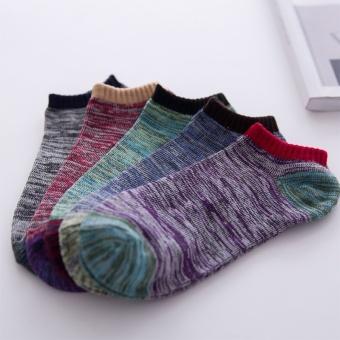 5 Pairs Men's Ankle No Show Casual Sport Cotton Socks Low Cut - intl - 2