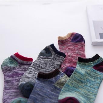 5 Pairs Men's Ankle No Show Casual Sport Cotton Socks Low Cut - intl - 4