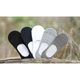 5 Pairs Men's Ankle No Show Casual Sport Bamboo Fiber Socks Low Cut