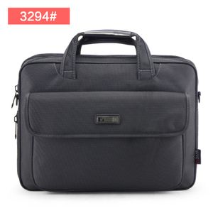 A4 office business casual men's bag canvas computer bag (3294 # dark gray)