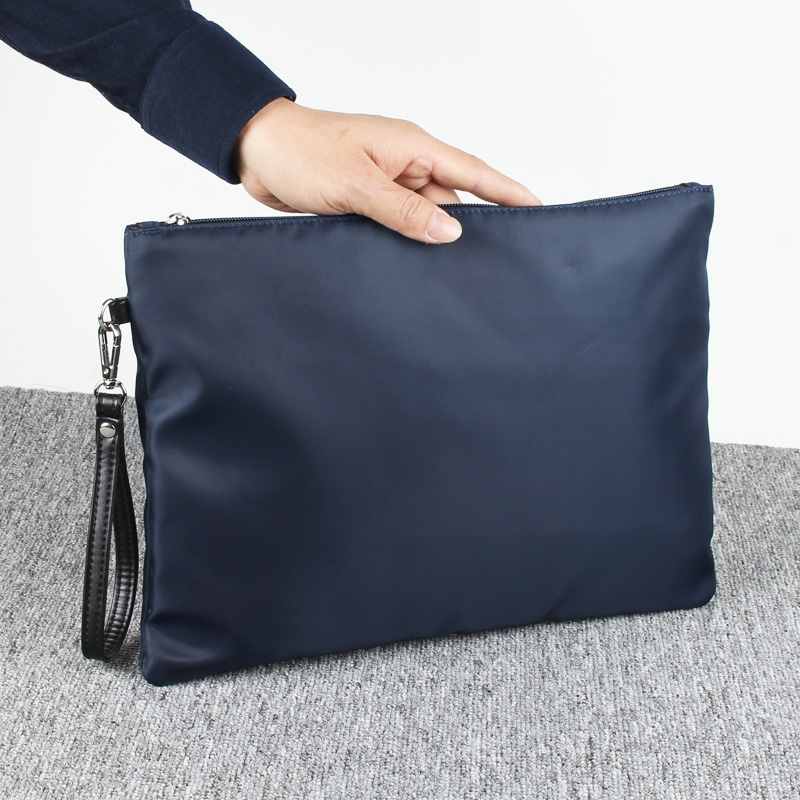 A4 paper iPad hand grasping office clutch bag envelope bag (Dark blue) (Dark blue)