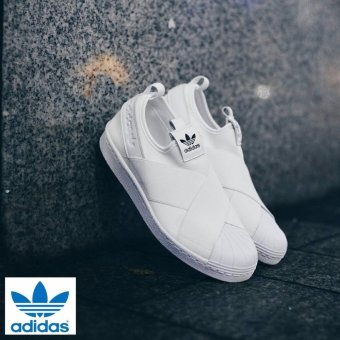 Harga Adidas 2017 New Originals Superstar Slip-on BY2885 White/White -intl