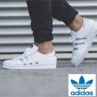 Harga Adidas Originals Superstar AQ3091 White/Silver - intl
