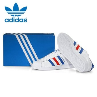 Adidas Originals Superstar Casual Shoes BB2246 White/Blue/Red -intl - 4