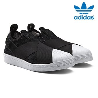 Harga Adidas Originals Superstar Slip-on Shoes S74986 Black/White Express- intl