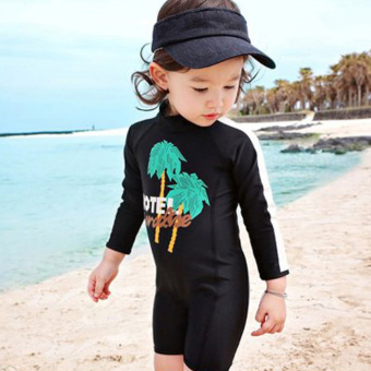 Baby girls split swimsuit