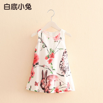 Harga Baby qz-3250 Korean-style New style girls children vest skirt dress (And white bunny) (And white bunny)