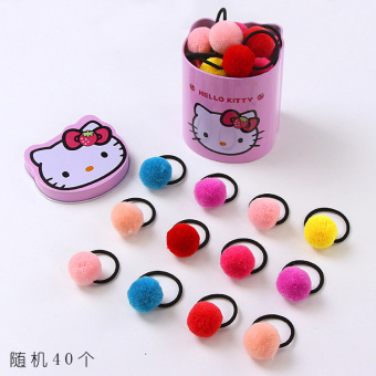 Baobao mink Ball Small hairband (Pom-pom boxed random 40)