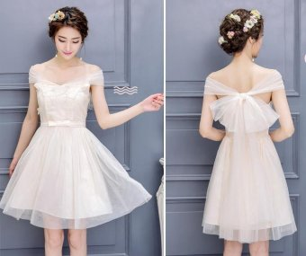 BIGCAT Sexy short section Korean style dress wedding dress - intl - 2