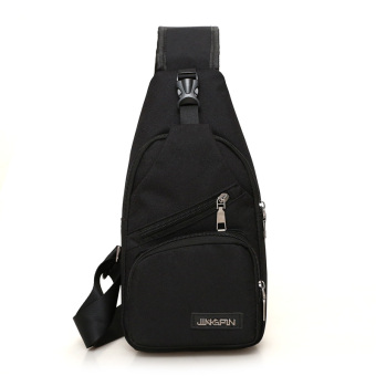 Casual canvas cross-body I Shinebager chest pack (Upgrade black)