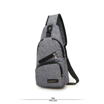 Casual canvas cross-body I Shinebager chest pack (Upgrade gray)