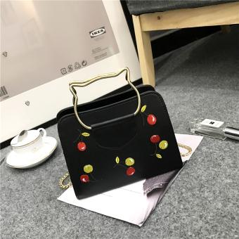 Cat bag on the new bag female 2017 New style tide Korean-style wild shoulder diagonal package portable cherry handbag