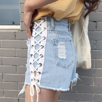 Chic Korean New style loose Slimming effect denim shorts