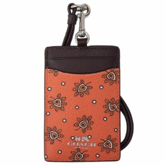 Coach F11850 Lanyard in Forest Bud Print Coated Canvas (Silver Coral)