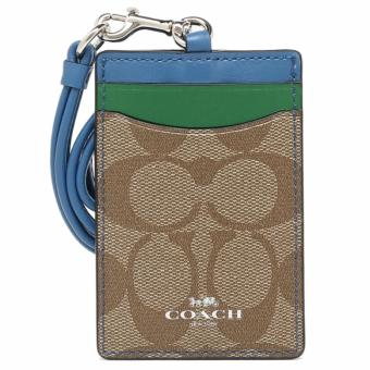 Coach F57964 Lanyard id Case in Colorblock Signature (Blue)