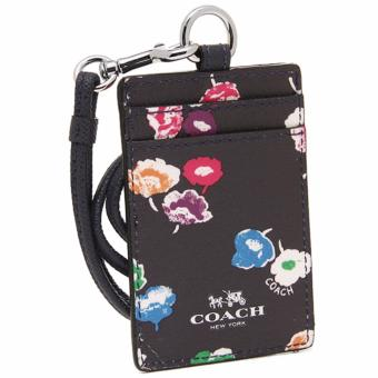 Coach F65573 Lanyard in Wildflower Print Coated Canvas