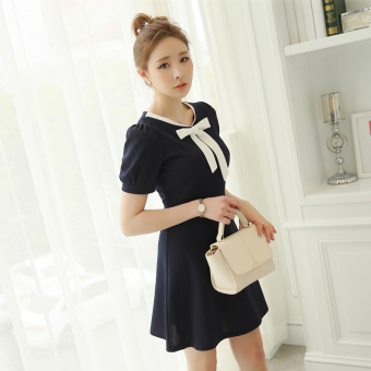 Color Diana New style Slim fit Slimming effect knit short-sleeved dress