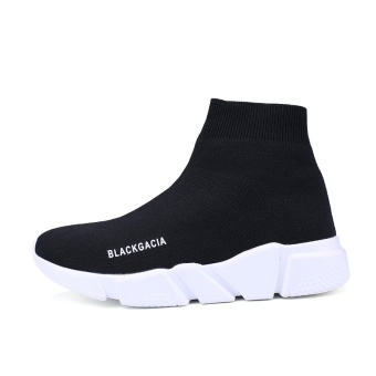 Harga Couple breathable Tang Yan same paragraph casual black socks shoes(43 + Black) (43 + Black)