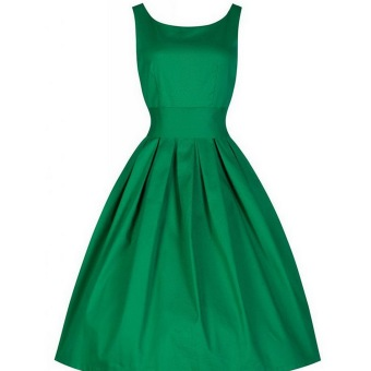Cyber Women Vintage Style Sleeveless Cocktail Ball Gown Dress(Green) - intl