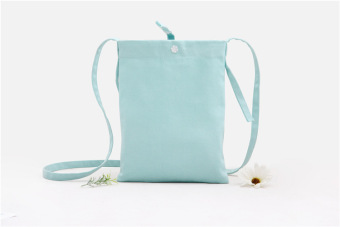 DIY solid color origional handmade purse cute shoulder bag mobile phone bag (Gray green) (Gray green)