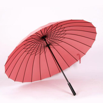Double large wind bone Straight Shank umbrella (24 bone rubber powder) (24 bone rubber powder)