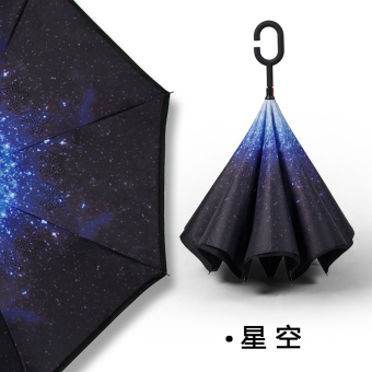 Dual skillet large people umbrella rain or shine umbrella (Take hands-free-reverse umbrella-star)