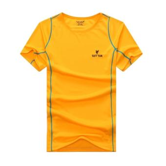 [Every day special] outdoor short-sleeved quick-drying T-shirtmen's sports casual running Short sleeve breathable quick-dryingT-shirt (Men's orange)