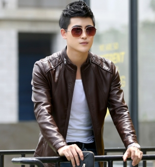 Taobao men slim leather jackets, Popular men slim leather jackets ...