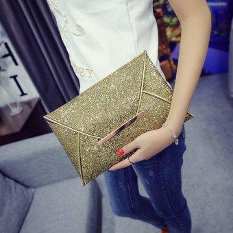 Fashion Elegant Ladies Glitter Sequins Clutch Bag Party Evening Envelope Shiny Purse (gold) -