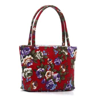 Fashion Female Lovely Canvas Handbag Shoulder Beach Bag PrintedBags