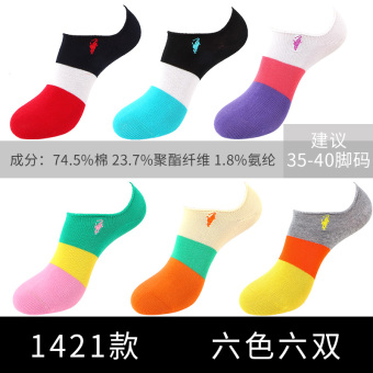 Female socks thin section candy color to help low shallow mouth invisible polo