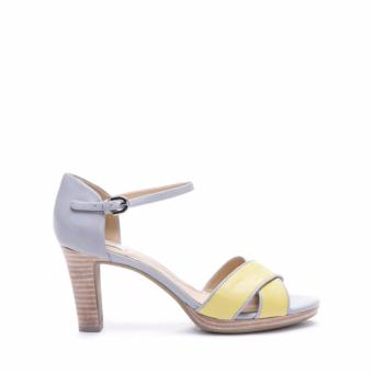 GEOX WOMEN SHOES HIGH HEELS D LANA SAND A LT YELLOW/LT GREY