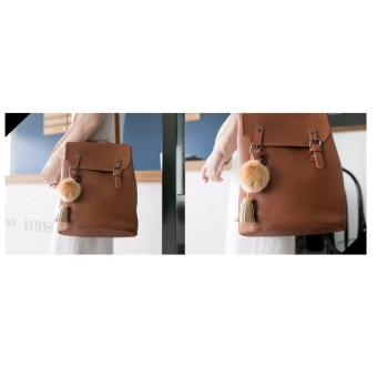 [Geraldine] Stephanie 3 Way Shoulder Backpack (Brown) - 5