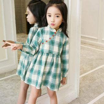 Girls long-sleeved dress 2017 New style Spring and Autumn Korean-style children's clothing dress skirt large children's autumn princess dress