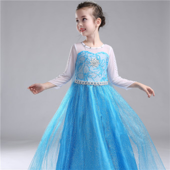 Girls Princess Dress Children Girls Party Wedding Dress-intl