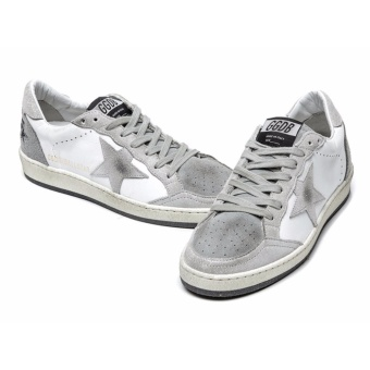 Golden Goose DB Star Sneakers In Leather With Suede Star Grey Sneakers - intl