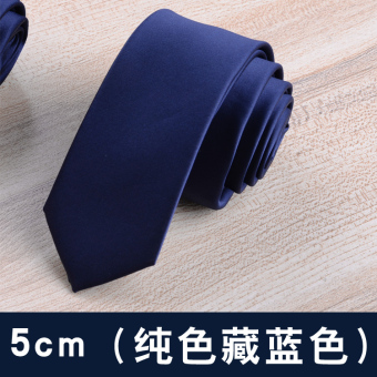 Groom casual 6cm business 8cm wedding students tide tie (5 cm (solid color dark blue))