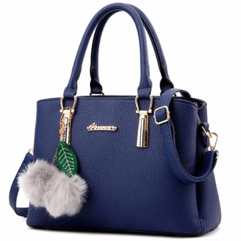 HengSong Fashion Women Handbag PU Leather Lady Hand Bag (Blue) - intl