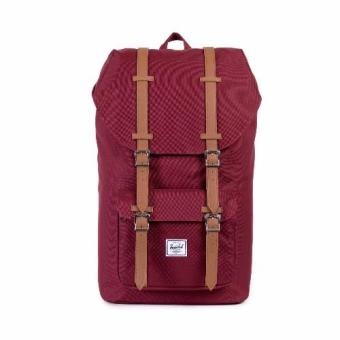 Harga Herschel Supply Co - Little America - Maroon Leather - Mid Volume