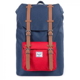 Harga Herschel Supply Co - Little America - NavyRed Leather - Full Volume