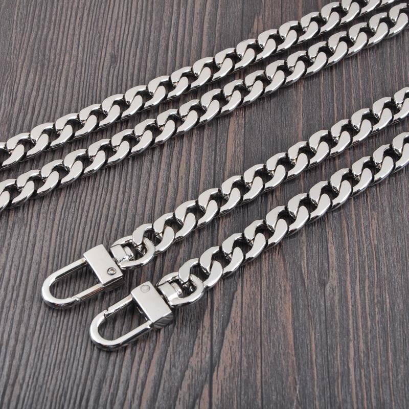 High-grade bag chain silver flat chain bag chain accessories (Silver 120cm buckle) (Silver 120cm buckle)